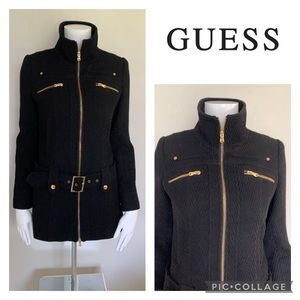 GUESS Winter Pea Coat with Gold Hardware